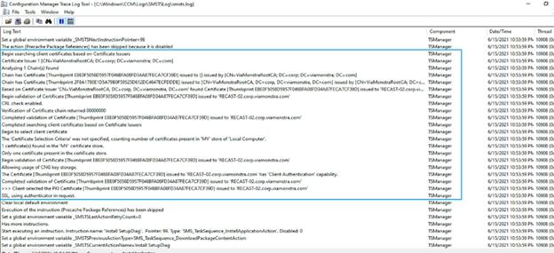 CMTrace Logging Esegui script PowerShell