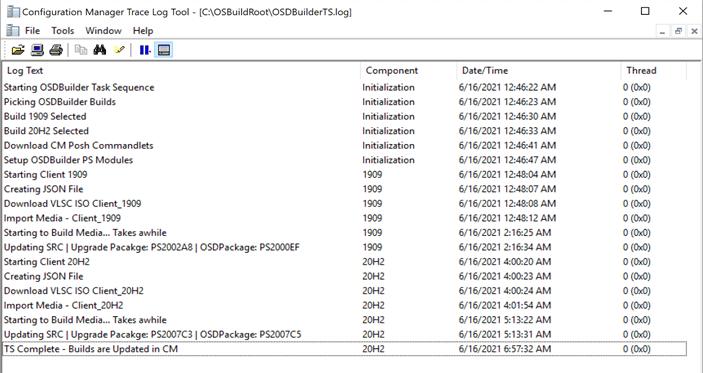 Strumento di registro di traccia Configuration Manager