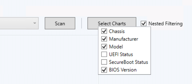 Hardware and Firmware Audit Dashboard - Select Options
