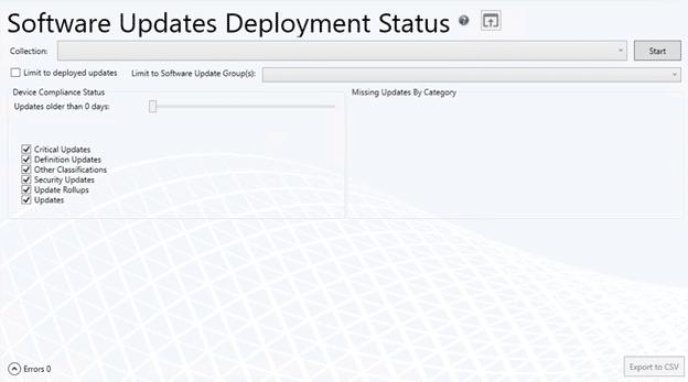 Software Updates Deployment Status