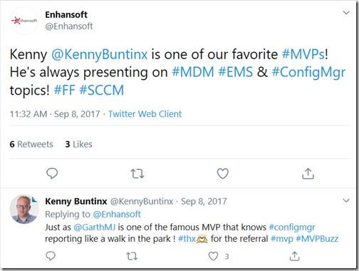 Follow Friday Tweet - Kenny Buntinx