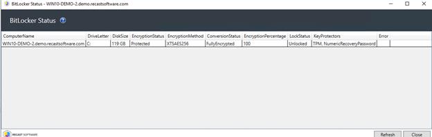 BitLocker Status